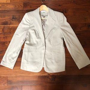 CABI Office Work Wear Gray Jacket Blazer Sz 8